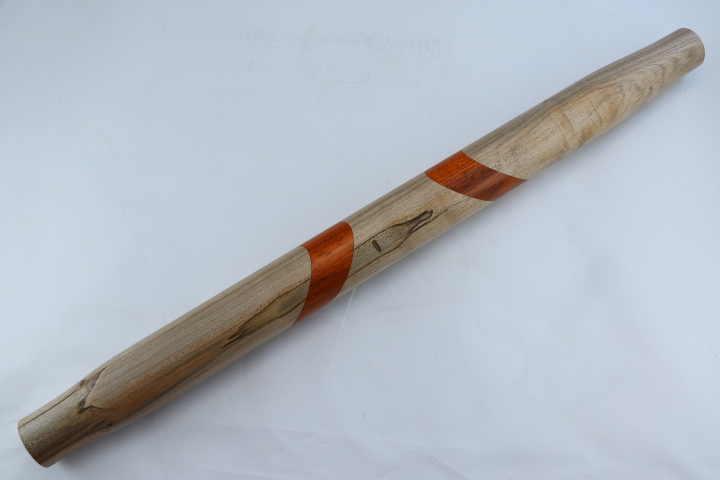 Ambrosia Maple Rolling Pin with African Paduak Accents